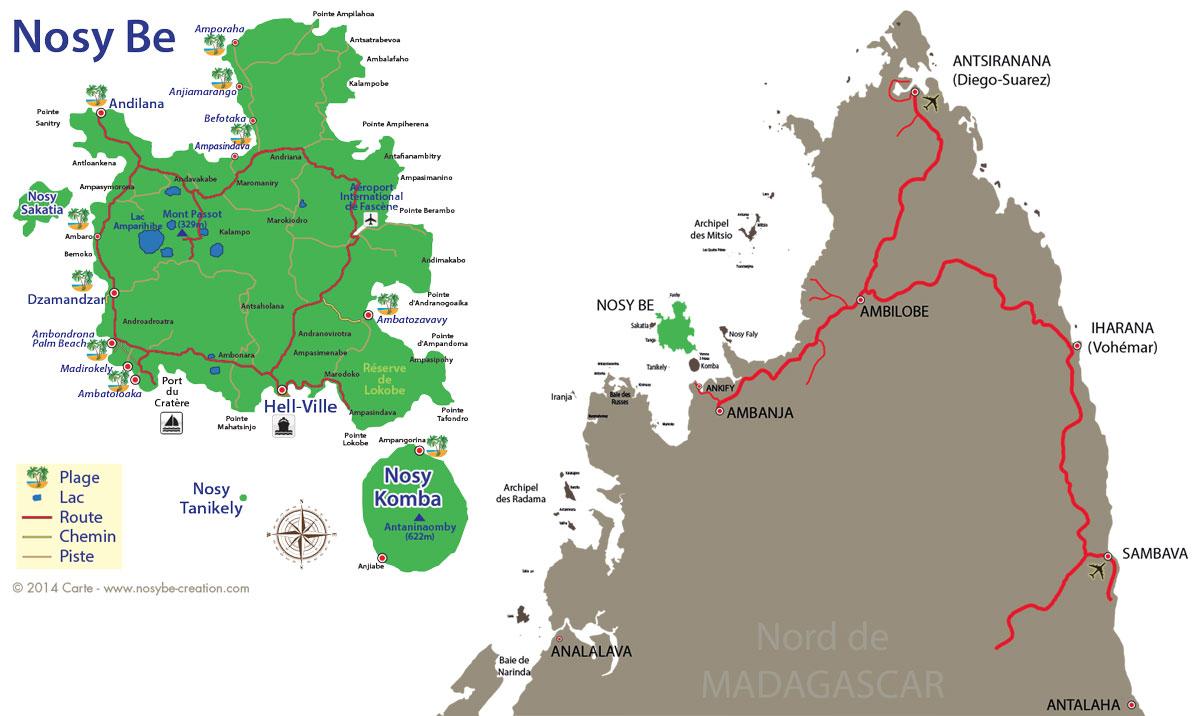 Carte Madagascar Nocibe.Villa Orchidees Ile De Nosy Be Presentation Et Carte De